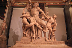 The statue of Laocoon and his Sons, Florence, Italy Stock Photos