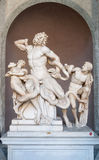 Statue of Laocoon and his Sons in Vatican museum royalty free stock photo