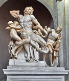 Statue of Laocoon and his Sons, Vatican Museum. The statue of Laocoon and His Sons also called the Laocoon Group, is a monumental sculpture in marble now in the Stock Image