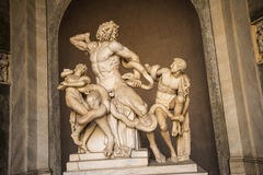 Statue of Laocoon  in the Vatican Museums in Rome Italy. Rome Italy, the Eternal city, which has been a destination for tourists since the times of the Roman Stock Photography