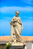 Statue of Las Artes (art). Small statue of Las Artes (art) in Ceuta, Spain Royalty Free Stock Photo
