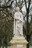 Statue of Laura de Noves in the Jardin du Luxembourg, Paris, France. Statue of Laura de Noves & x28;1310–1348& x29;, the wife of Count Hugues de royalty free stock images