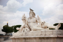 The statue Le Tibre in Tuileries Garden in Paris. Royalty Free Stock Photography
