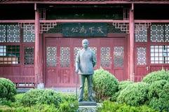Statue in Lebensgröße von ` der Vater modernen China-`, Sun Yat-sen in Yangshuo, China Lizenzfreie Stockfotos