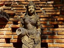 Statue of legendary characters were created to respect and cultural expressions of Thailand Stock Photo
