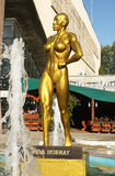 Statue of Lenda Murray. In front of a big fitness center. Location: Timisoara, west Romania Stock Images