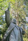 A statue of Lenin in soviet Park. A statue of Lenin in Grutas Park, garden of Soviet-era statues, Vilnius, Lithuania Royalty Free Stock Photo