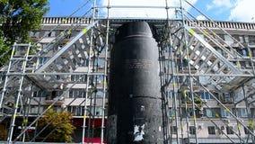 Statue of Lenin monument destroyed in December, 2013, Kiev, Ukraine, stock footage
