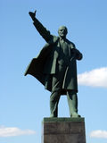 Statue of Lenin. Old bronze statue of Lenin showing his comrades the way to communism future Stock Images