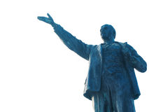 Statue of Lenin. Old statue of Lenin isolated on white background Stock Photos