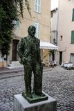 Statue of Lenin in Old Town of St Tropez, France royalty free stock photography