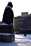 Statue of Lenin in snow Royalty Free Stock Photography