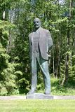 A statue of Lenin in soviet Park. A statue of Lenin in Grutas Park, garden of Soviet-era statues, Vilnius, Lithuania Royalty Free Stock Image