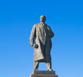 Statue of Lenin in Volgograd over sky Royalty Free Stock Images