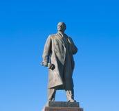 Statue of Lenin in Volgograd over sky. Statue of Lenin in Volgograd over big blue sky Royalty Free Stock Images