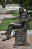 Statue of Lennon in Parque Lennon stock photos