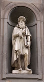 Statue of Leonardo da Vinci Royalty Free Stock Images