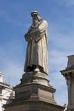 Statue of Leonardo Da Vinci in Milan Stock Image
