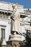 Statue of Leonardo da Vinci - Milano Italy. Statue of Leonardo da Vinci 1872 in Piazza della Scala Scala square in Milano Milan, Lombardia Lombardy, Italy royalty free stock image