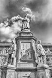 Statue of Leonardo da Vinci in Milan, Italy. Statue of Leonardo da Vinci in Piazza della Scala, Milan, Italy royalty free stock photo