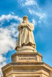 Statue of Leonardo da Vinci in Milan, Italy. Statue of Leonardo da Vinci in Piazza della Scala, Milan, Italy royalty free stock image
