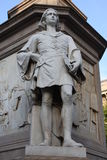 Statue of Leonardo Da vinci in Piazza della Scala, Milan, Italy. Royalty Free Stock Photos