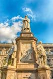 Statue of Leonardo da Vinci in Milan, Italy. Statue of Leonardo da Vinci in Piazza della Scala, Milan, Italy stock image