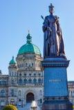 Statue législative Victoria Canada de la Reine de Buildiing Photographie stock
