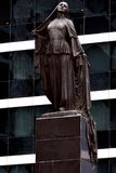 Statue of the Liberated Woman, in Baku, capital of Azerbaijan, view from the front Stock Photo