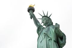 Statue of liberty 1. Upper body of the Statue of Liberty against a white background royalty free stock photography