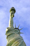 Statue of Liberty. In Las Vegas. Clear sky and interesting angle Royalty Free Stock Images