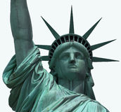 Statue of Liberty. Against isolated background royalty free stock photo