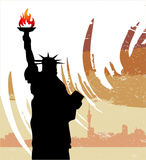 Statue of liberty. Silhouette vector Stock Photography