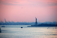 Statue of Liberty. By sunset Royalty Free Stock Image