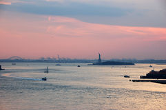 Statue of Liberty. By sunset Stock Photos
