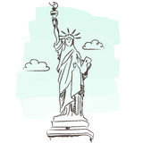 Statue of liberty vector royalty free illustration