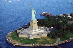 Statue of Liberty. Aerial view of the Statue of Liberty, New York City, New York Royalty Free Stock Photo