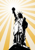 Statue of liberty. Background (vector, illustration, silhouette Royalty Free Stock Photo