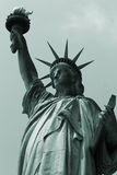 Statue Of Liberty. With greenish gray shades Royalty Free Stock Images