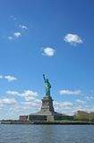 Statue of Liberty. Under the beautiful clear blue sky Stock Photography