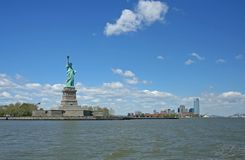 Statue of Liberty. And Jersey shore Stock Photos