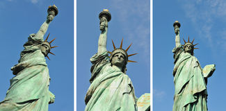 Statue of Liberty. Set of pictures representing the Statue of Liberty against blue sky Royalty Free Stock Photo