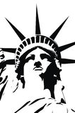 Statue of liberty. On white background Royalty Free Stock Photo