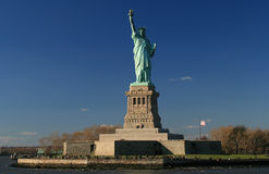 Statue of Liberty. Clear blue sky frames the Statue of Liberty Royalty Free Stock Images