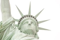 Statue of Liberty. On white background stock photo