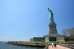 Statue of Liberty. Viewed from the side royalty free stock photos