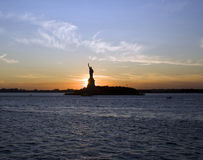 Statue of liberty. By Sunset, New York City Stock Photos