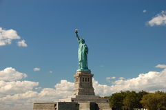 Statue of Liberty. Against blue sky in New York Stock Image