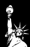 Statue of Liberty. An illustration of the Statue of Liberty in New York harbour Unite States of America ,USA, on a black background Royalty Free Stock Images