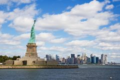 Statue of liberty. Liberty island and New York city Royalty Free Stock Images